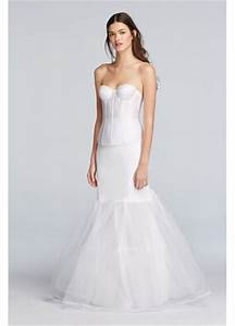 a line silhouette slip davids bridal With slip under wedding dress