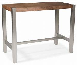 Riva Rectangular Counter Height Table, Walnut