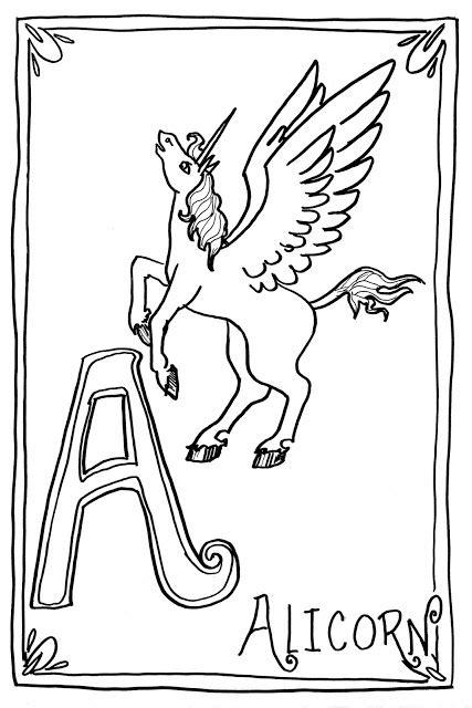 original coloring pages    alicorn