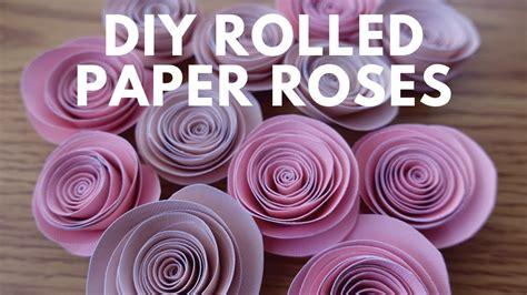 diy spiral rolled paper roses tutorial paper flowers