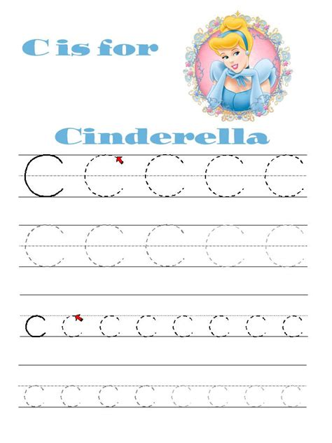 printable letter practice with disney friends for