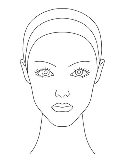 makeup template blank makeup template sketch coloring page