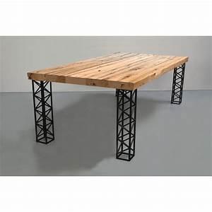 Pied De Table A Manger : avec des pieds carr s r aliser en fer b ton ~ Teatrodelosmanantiales.com Idées de Décoration