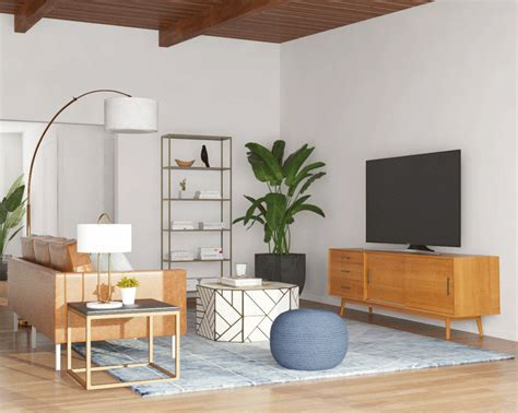 Living Room Design By Size by How To Find The Best Tv Stand For Your Tv Size Modsy
