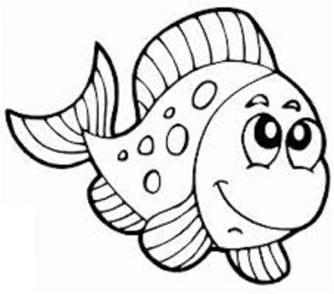 fish coloring pages for preschool and kindergarten 854 | fish coloring page 3