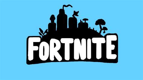 Fortnite Logo How to Paint - Epic Games - Speedart - YouTube