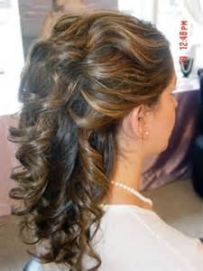 Curly Updo Wedding Hairstyles Medium Length Hair