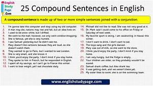 25 Compound  Complex Sentences In English