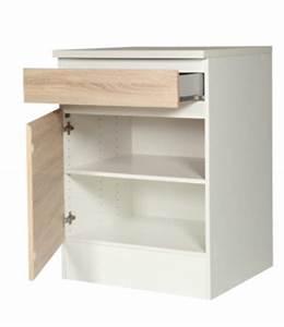 meuble bas cuisine 55 cm largeur mobilier design With meuble 75 cm largeur