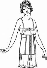 Corset Coloring Pages Template Adults sketch template