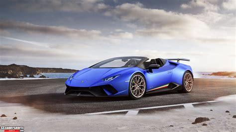 2 2019 Lamborghini Huracan Performante Spyder Sssupersports