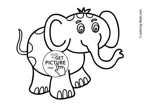 elephant animals coloring pages  kids printable