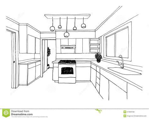 croquis cuisine croquis graphique la cuisine illustration stock image