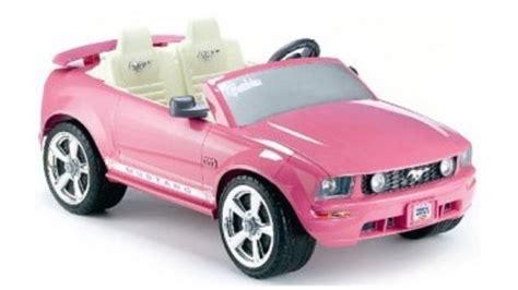 pink kid car power wheels barbie ford mustang grandparents com