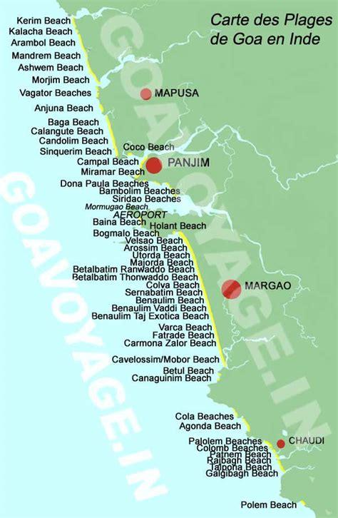 Carte Des Plages De by Plages De Goa