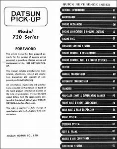 1982 Datsun Pickup Truck Repair Shop Manual Original