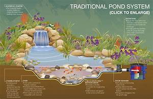 Exterior    Traditional Pond System Schematic Design Ideas