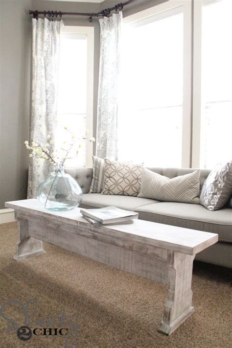 shanty 2 chic coffee table diy coffee table or bench shanty 2 chic