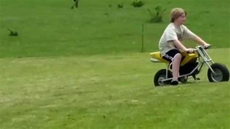 Adrien Riding The Honda Mini Crotch Rocket Motorcycle In