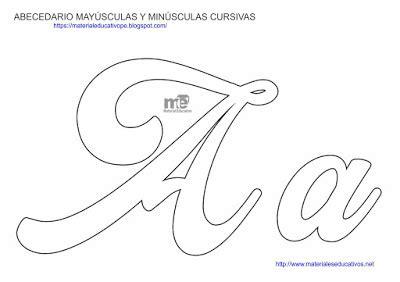 moldes de letras cursivas may 218 sculas y min 218 sculas material educativo