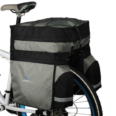 bicycle rear rack bag roswheel 60l cycling bicycle bag bike side rear