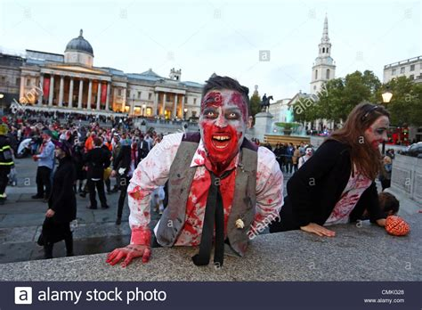 london zombies participants dressed 2nd alamy november