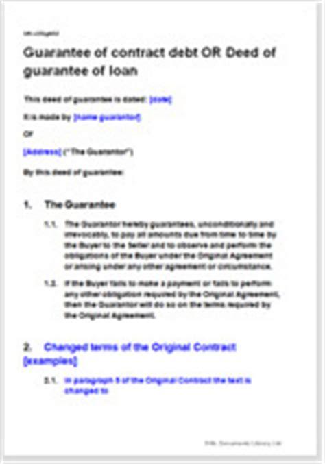 deed  guarantee  contract debt  option  changed