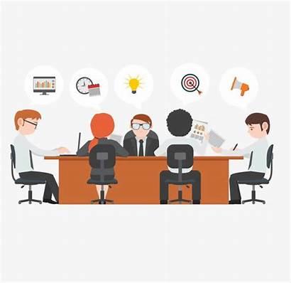 Meeting Clipart Conference Rapat Pertemuan Orang Gambar