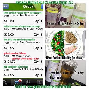 Weight Loss Plan  Herbalife Meal Plan For Weight Loss