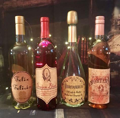 details  labels  wine potion bottles harry potter