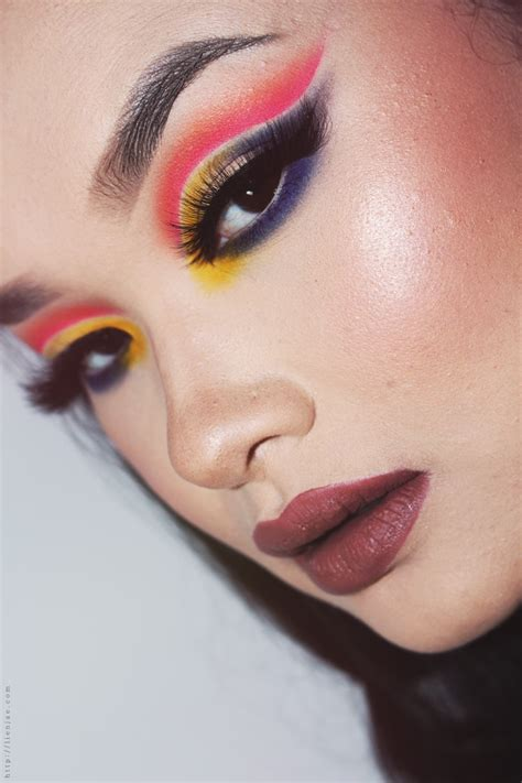 colorful cut crease makeup pictorial lien jae