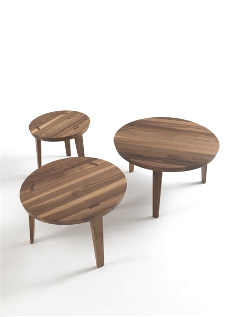 solid wood round coffee table tao coffee table by riva 1920 design maurizio riva