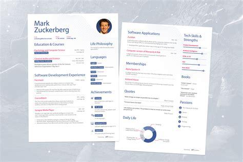 the success journey zuckerberg s pre resume