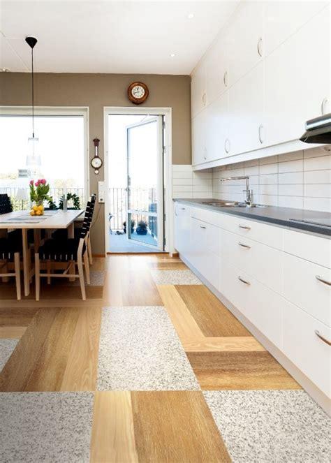 carrelage blanc cuisine carrelage cuisine avec parquet