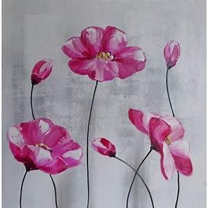 Tableau Rose Et Gris : tableau fleur rose et gris id e d 39 image de fleur ~ Teatrodelosmanantiales.com Idées de Décoration