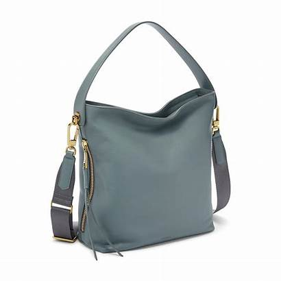 Fossil Hobo Handbags Maya Chambray Bags Leather