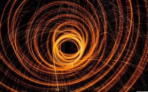 photography lights long exposure spiral wallpapers hd