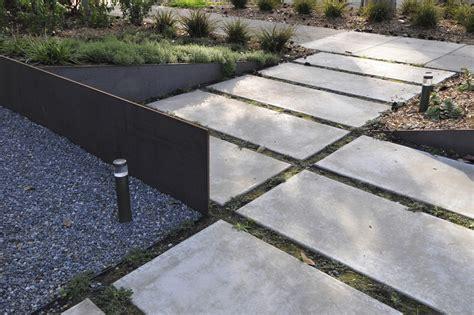 modern home layouts backyard pavers ideas landscape modern with bark mulch