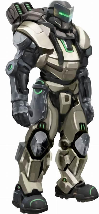 Armor Combat Sci Fi Powered Space Concept