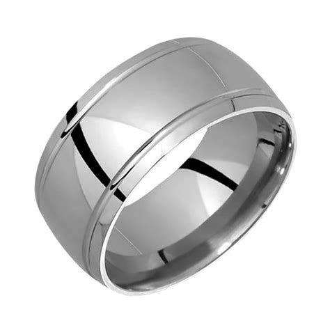 new stylish mens titanium ring wedding band for engagement 12mm wide handmade ebay