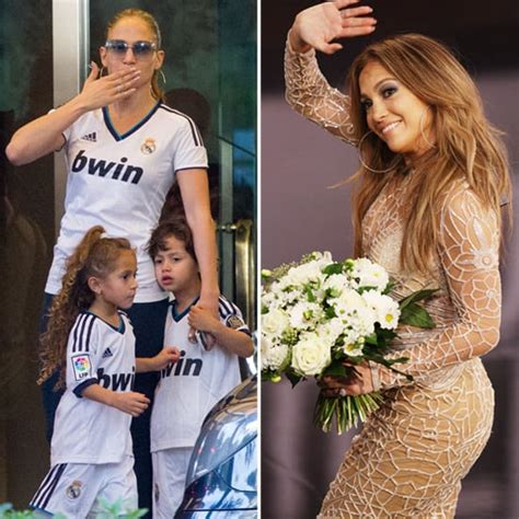 Jennifer Lopez And Twins Max And Emme In Spain