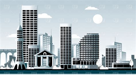 clipart building buildings downtown clip skyline cityscape cliparts vector bulding buiding skyscrapers library clipground apartments backdrop silhouette printable apartment related