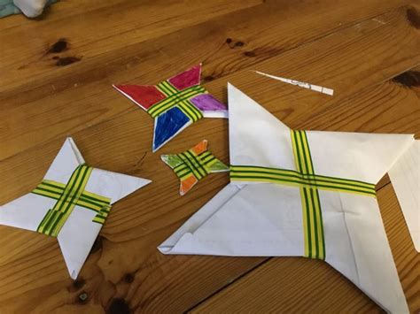 How To Fold An Origami Star (shuriken) (with Pictures