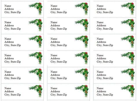 printable christmas return address label template