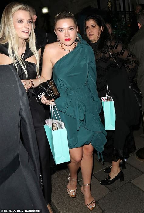 BAFTAs 2020: Florence Pugh in green ruffle dress at after ...
