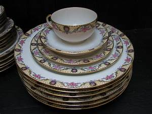 Antique French Limoges Jean Pouyat Limoges France Porcelain China Dinnerware