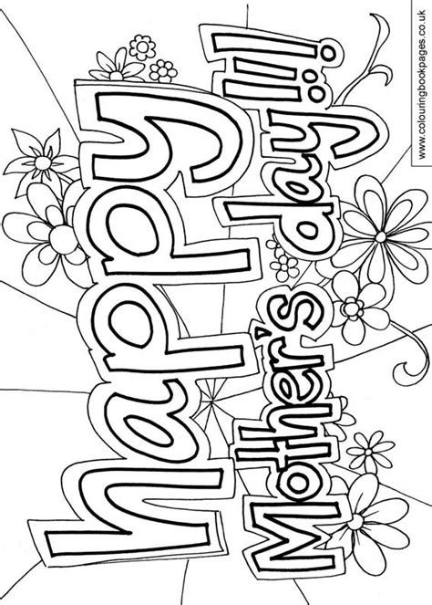 mothers day colouring pages  mothering sunday