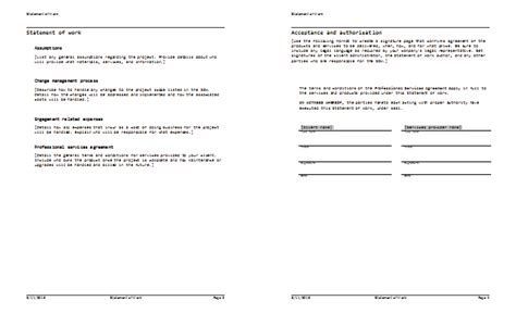 statement of work template 6 statement of work done templates word excel pdf templates