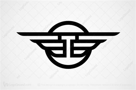 Winged Letter T Logo