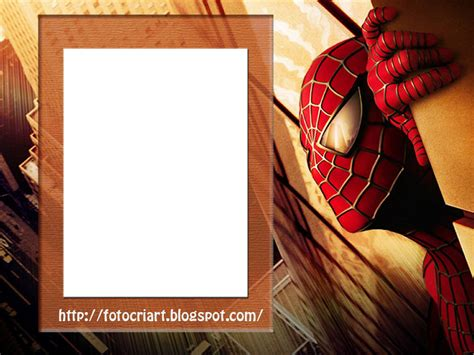 fotocriart molduras do homem aranha filmes